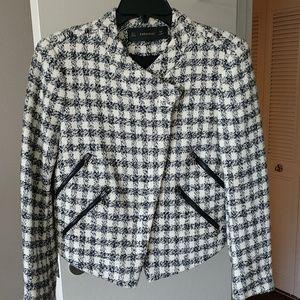 Zara houndstooth blazer coat